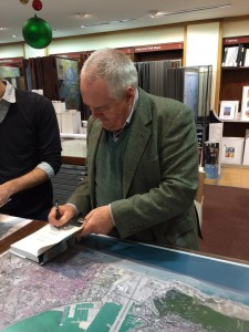 Signing copies of The Gilded Chalet at Stanfords Travel bookshop in London